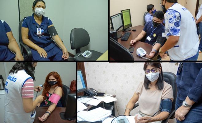 Magistrados e servidores do TJRR participam de blitz de saúde