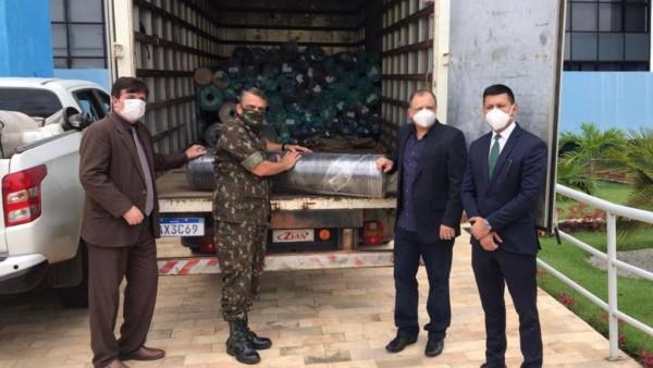 TJRR doa materiais e equipamentos para hospital de campanha da Operação Acolhida
